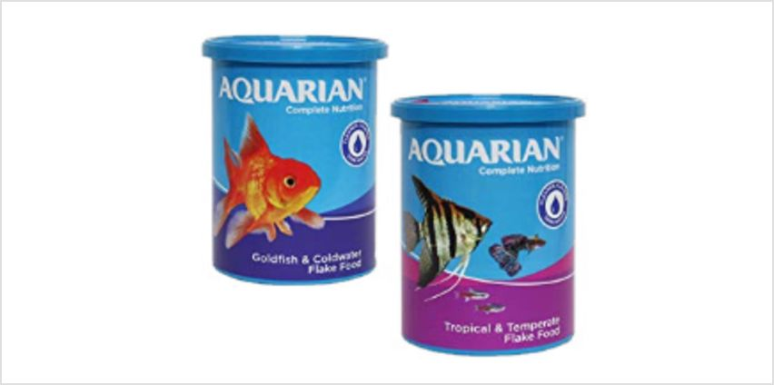 Save on AQUARIAN Fish Food from Amazon
