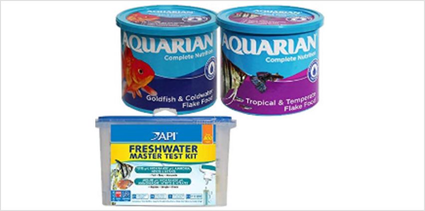 Save on fishcare bestsellers by API and AQUARIAN from Amazon