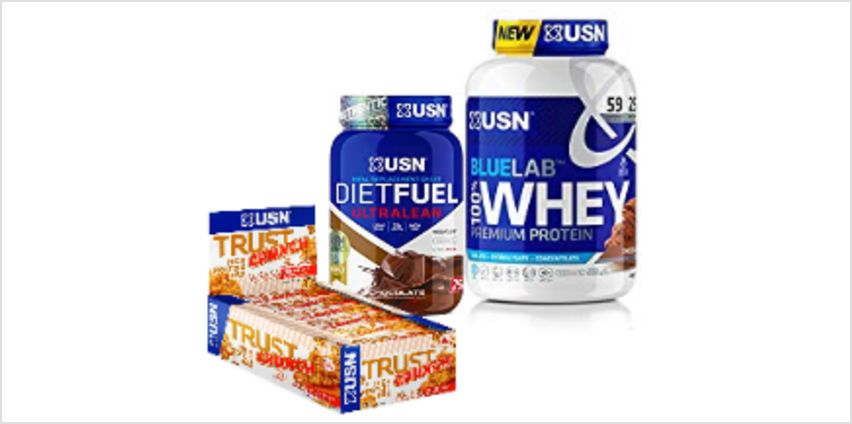 Up to 63% on USN Diet Fuel, Blue Lab Whey and more from Amazon