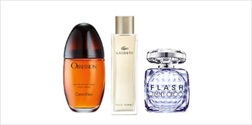 Up to 60% off Luxury Fragrances for Women from Jimmy Choo, Calvin Klein, Lacoste and more from Amazon