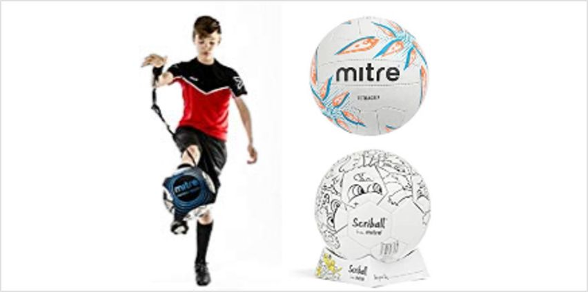 Up to 20% off Mitre Footballs, Netballs, Goals and more from Amazon