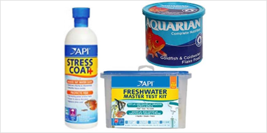 Up to 30% off fishcare bestsellers by API and AQUARIAN from Amazon