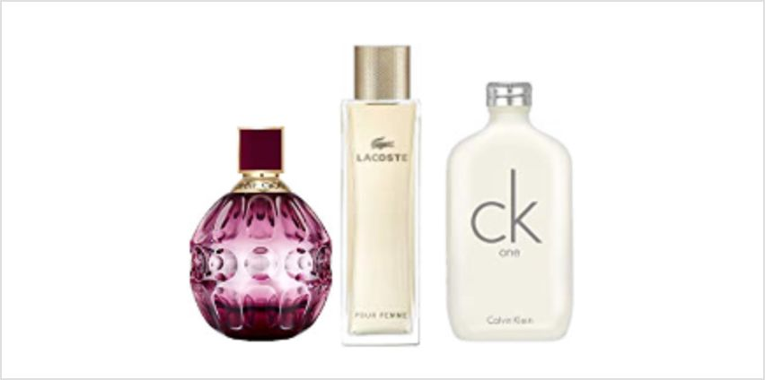 Up to 60% off Fragrances for Women from Jimmy Choo, Calvin Klein, Lacoste and more from Amazon