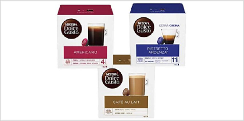 Up to 21% off NESCAFÉ Dolce Gusto Pods from Amazon
