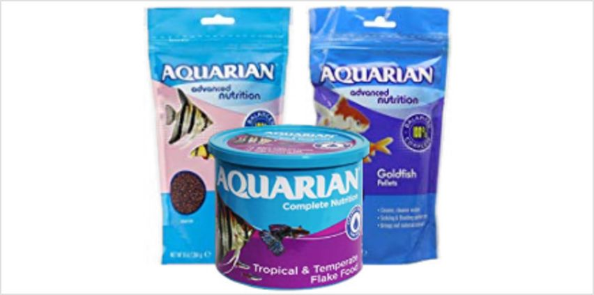 Save on AQUARIAN Complete Nutrition, Aquarium Tropical Fish Food, Flakes, 200 g Container and more from Amazon