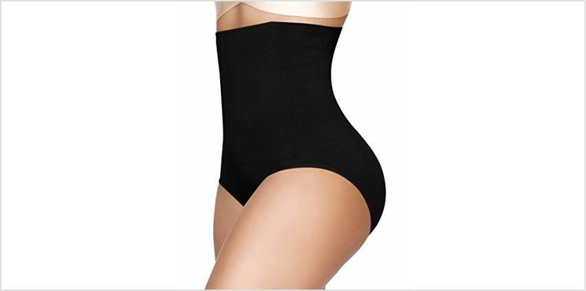 SIMIYA Women's Underwear Shapewear High-Waist Tummy Control Knickers Slimming Seamless Waist Shaper from Amazon