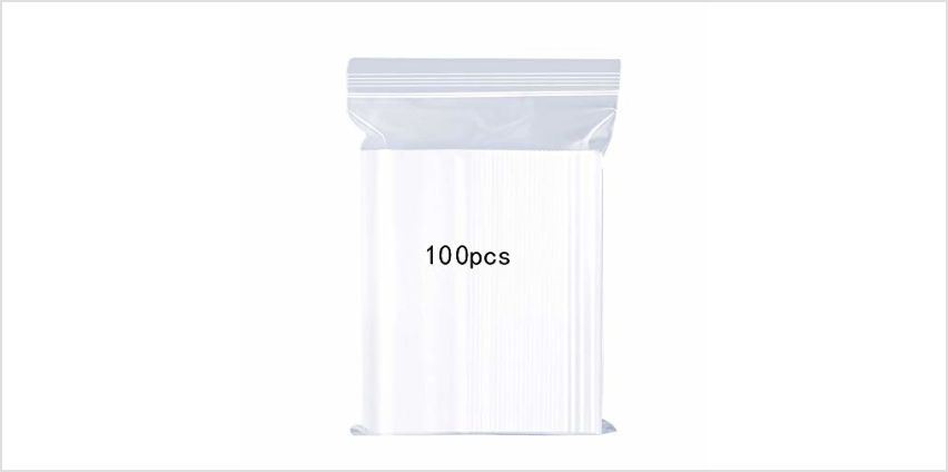 Resealable Clear Plastic Bags,Sealed Storage Pouches,Thickening Durable,Press Seal Bags,Suitable for Household Quilts, Clothing Storage Bags, Reusable Sealed Bags from Amazon