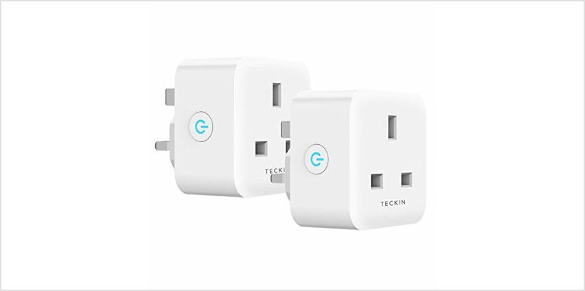 Smart Plug TECKIN 13A WiFi Socket Compatible with Alexa Echo Google Home IFTTT, Timing Function Remote Control No Hub Required 2 Pack from Amazon