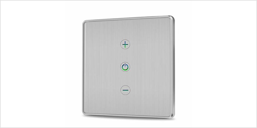 Innens WiFi Smart Light Switch, Toughened Glass Brushed Smart Wall Touch Switch Compatible with Alexa Google Assistant & IFTTT, App Remote Control, Neutral Wire Required No Hub Required from Amazon