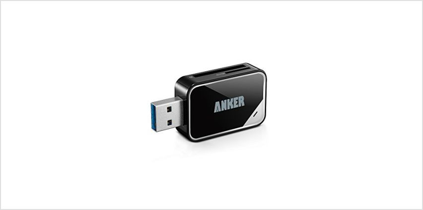 Anker® USB 3.0 Card Reader 8-in-1 for SDXC, SDHC, SD, MMC, RS-MMC, Micro SDXC, Micro SD, Micro SDHC Card, Support UHS-I Cards, 18 Months Warranty from Amazon
