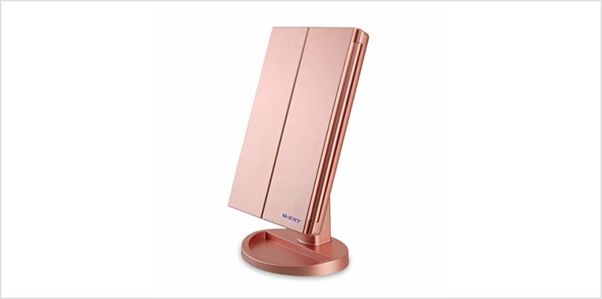 WEILY Makeup Vanity Mirror with LED Lighting and Touch Screen from Amazon