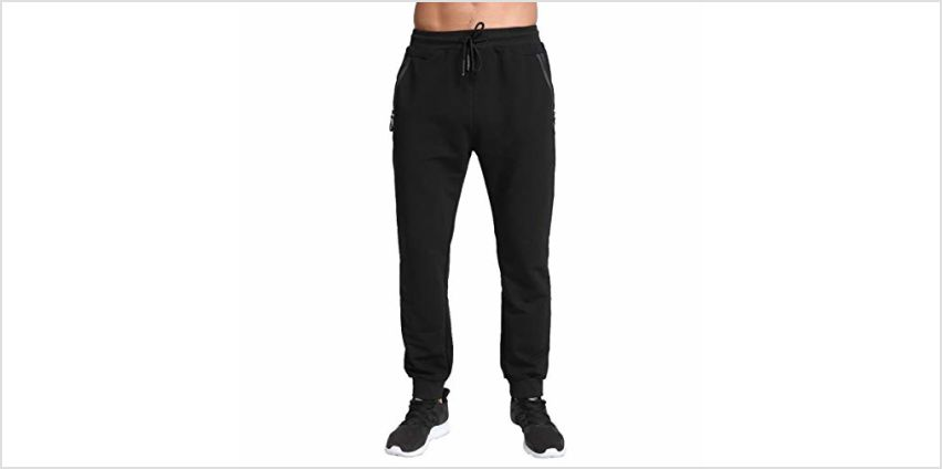 Tansozer Mens Joggers Slim Fit Tracksuit Bottoms Zip Pockets from Amazon