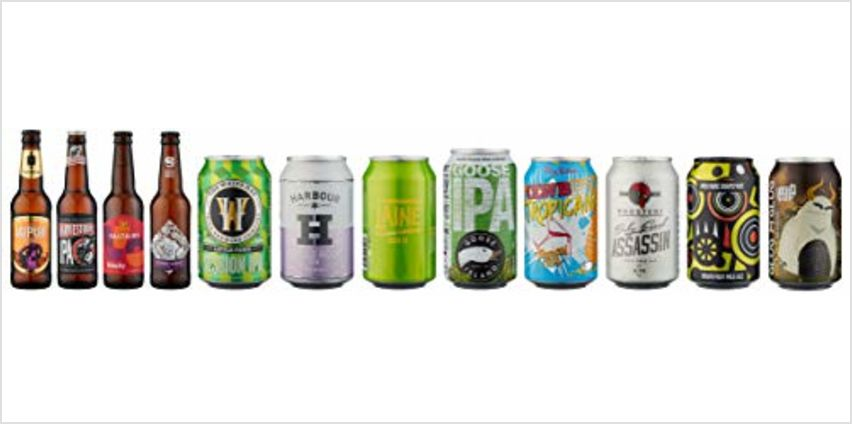 Save on Beer Hawk India Pale Ale IPA Mixed Case, 12 x Craft Beer Selection and more from Amazon