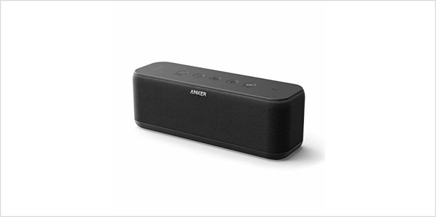 Portable Speakers, Anker Soundcore Boost 20W Bluetooth Speaker with BassUp Technology,  12H Playtime, IPX5 Water-Resistant, Wireless Speaker with Superior Sound & Bass for iPhone, Samsung and More from Amazon