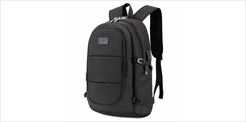 Anti Theft Backpack,Business Travel Laptop Backpack with RFID Signal Blocking Pouch USB Charging Port, Water-Resistant Slim Backpack Fit 15.6 Inch Laptop Computer Work School Rucksack for Womens Mens from Amazon