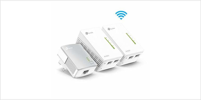 Save on TP-Link TL-WPA4220T KIT 2-Port Powerline Adapter WiFi Starter Kit, Range Extender, Broadband/WiFi Extender, WiFi Booster/Hotspot, No Configuration Required, UK Plug and more from Amazon