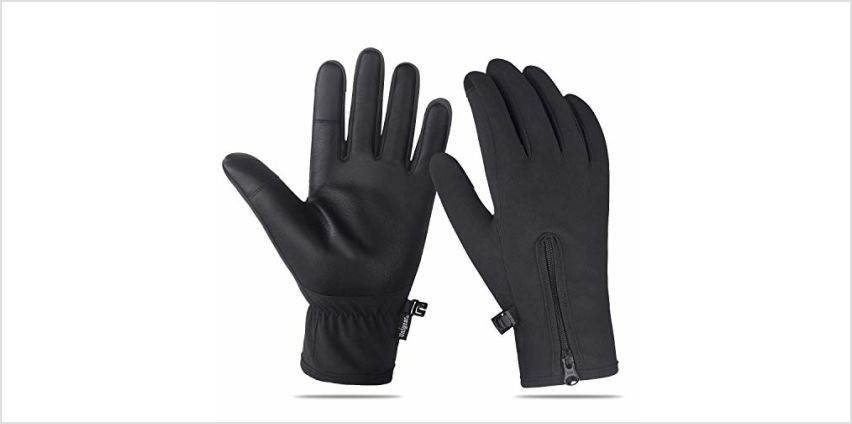 Unigear Winter Warm Gloves Double Waterproof Windproof with Touchscreen Function Cycling Gloves for Daily Use,Gardening, Builders, Mechanic from Amazon