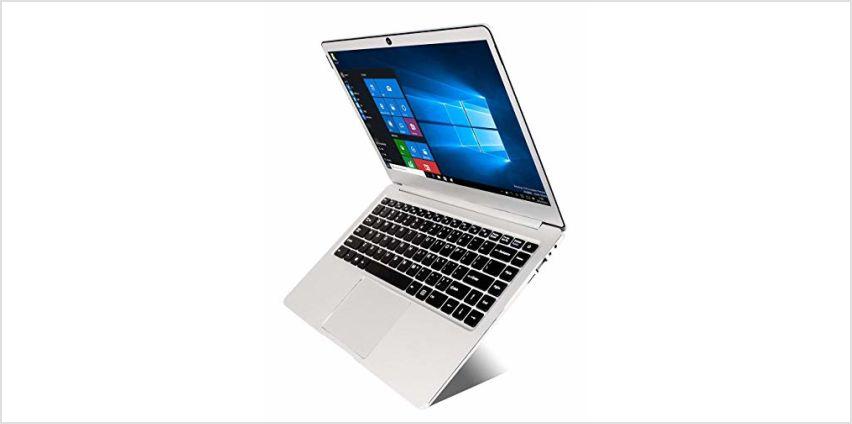 14 inch Laptop (Intel x5-E8000 64-bit, 4GB DDR3 RAM, 64GB SSD, Dual 4500mAH battery, HD webcam, Windows 10 OS, 1366 * 768 FHD IPS display) Notebook from Amazon