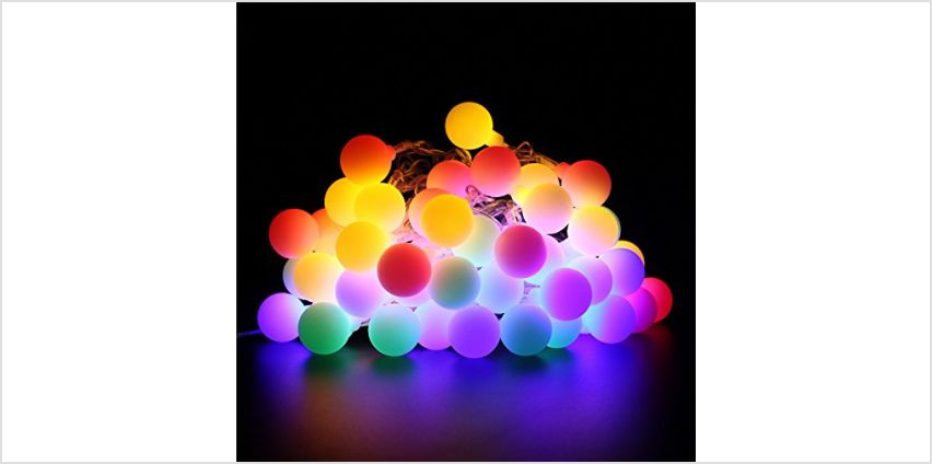 BlueFire Fairy Lights Battery Powered, 7M 50 LED Globe String Lights with Remote Control Timer 8 Lighting Modes Christmas Lights for Indoor Outdoor Home Garden (Warm White) from Amazon