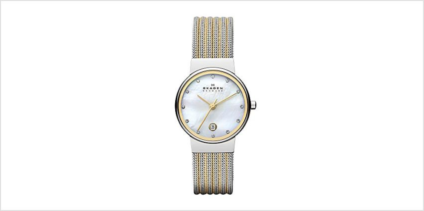 Save on Skagen Women's Watch 355SSGS and more from Amazon