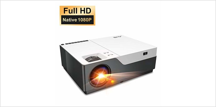 "Full HD Projector Artlii Native 1080P Projector 300"" Display 5000:1 Contrast LED Video Projector with Zoom for PowerPoint Home Theater and Schooling from Amazon"