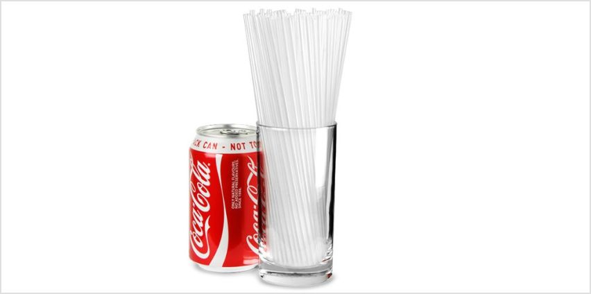 Collins Straws 8inch Clear - Box of 1000   Plastic Drinking Straws, Straight Straws, Cocktail Straws from Amazon