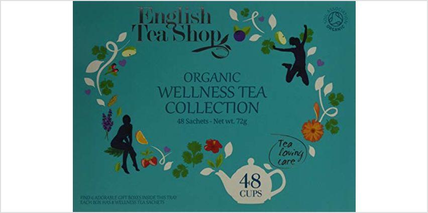 Save on English Tea Shop Organic Wellness Collection Tea Bag Gift Tray and more from Amazon