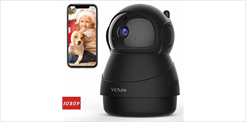 Victure 1080P FHD WiFi IP Camera Baby Monitor with Night Vision Motion Detection 2-Way Audio from Amazon