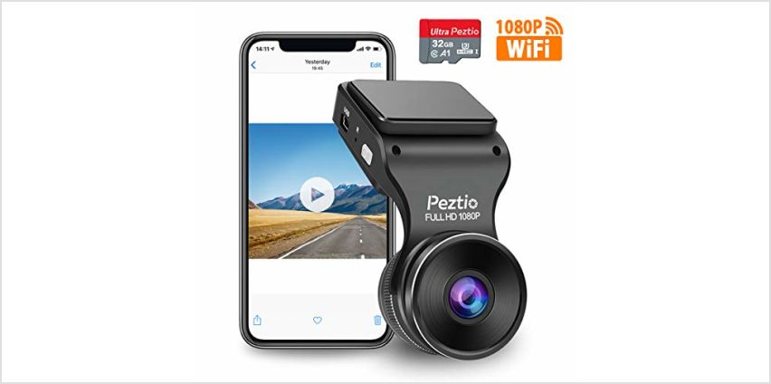 Dash Cam WiFi Full HD 1080P Car Dash Camera Recorder, Dashcam for Cars with SD Card, Night Vision, 170° Wide Angle, WDR, Loop Recording, G-sensor, Motion Detection, Parking Monitor from Amazon