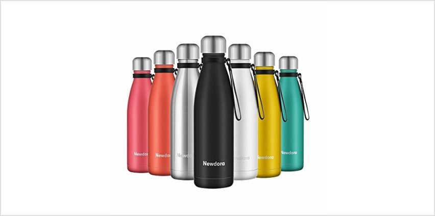 Newdora Vacuum Insulated Water Bottle & Vacuum Flask - 500ml,12 Hours Hot/24 Hours Cold,Double Walled 18/8 Stainless Steel for Kids, Sport, Outdoor with Cleaning Brush from Amazon