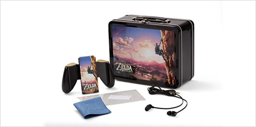 Save on Nintendo Switch Lunchbox Kit|Zelda: Breath of the Wild Climbing links|Includes Joy-Con Comfort Grip|earbuds|cleaning cloth||Officially Licensed|From PowerA (Nintendo Switch) and more from Amazon