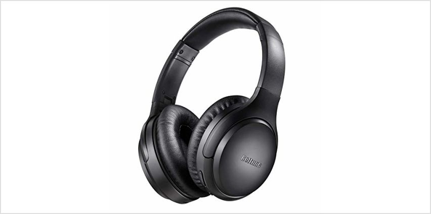 Noise Cancelling Headphones, Boltune Bluetooth 5.0 Wireless Over Ear Headset with Hi-Fi Deep Bass, 30 Hrs Playtime Bluetooth Headphones with CVC 8.0 Mic for Travel Work TV PC Cellphone from Amazon