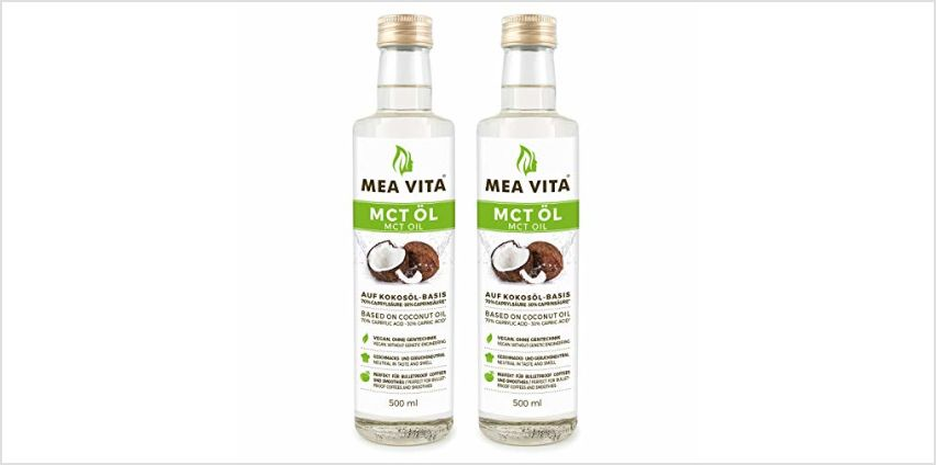 MeaVita MCT Oil Premium Quality (2 x 500 ml) from Amazon