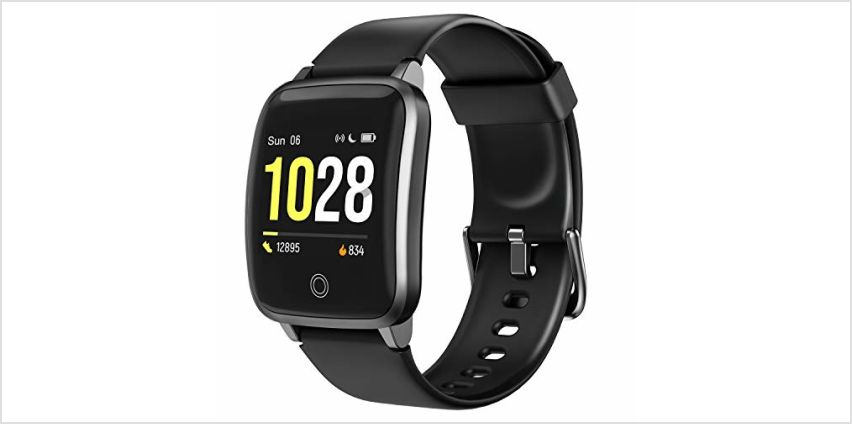 """LETSCOM Smart Watch Fitness Trackers with Heart Rate Monitor Step Calorie Counter Sleep Monitor, IP68 Waterproof Smartwatch 1.3"""" Color Screen, Activity Tracker Pedometer for Women and Men from Amazon"""