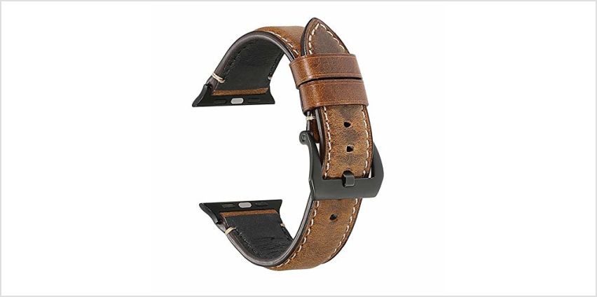 Yierya Compatible for Apple Watch Straps 42mm 44mm 38mm 40mm,Leather Watch Bands Replacement for Apple Watch Series 5/4/3/2/1 from Amazon