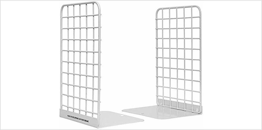 Metal Bookend, Hisredsun 1 Pairs Modern Geometric Design Boo from Amazon