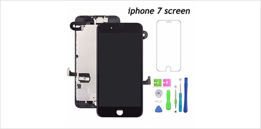 For iPhone 7 White Screen Replacement Touch Screen Display LCD Digitizer Assembly With Front Facing Camera Proximity Sensor+Ear Speaker+Repair Tools(iPhone 7 Screen,White) from Amazon