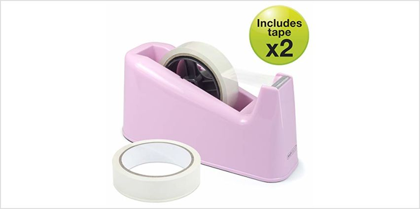 Save on Rapesco 1487 500 Heavy Duty Dispenser and 2 Tape Rolls - Candy Pink and more from Amazon