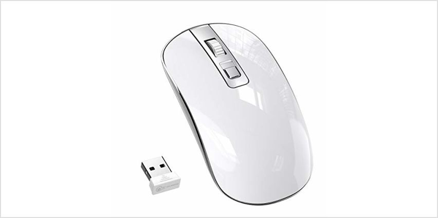Wireless Mouse,【Slim & Noiseless, Attractive and stylish Design】Patuoxun 2.4G USB PC Laptop Computer Cordless Mice with Nano Receiver for Windows Apple Mac Linux Vista Macbook - Super Energy Saving from Amazon