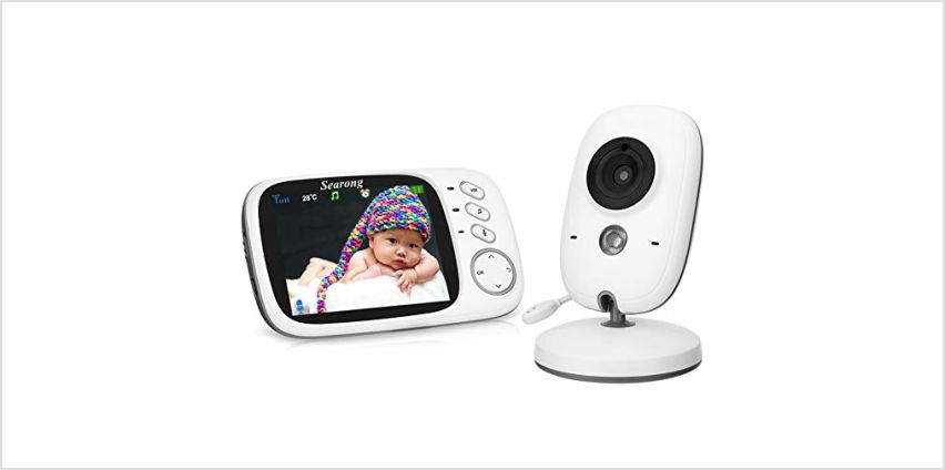 Baby Monitor, Video Baby Monitor Wireless Baby Camera with Night Vision, Digital 2.4Ghz Baby Monitor with Two-Way Audio, Lullabies Temperature from Amazon