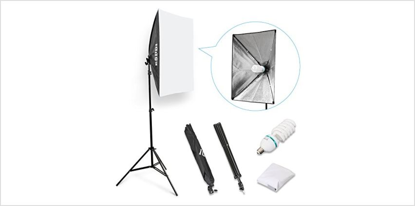 "ESDDI 20""X28"" Softbox Portable Photography Lighting Kit Photo Equipment Studio Light 20""X28"" for Portrait Video and Advertising Shooting from Amazon"