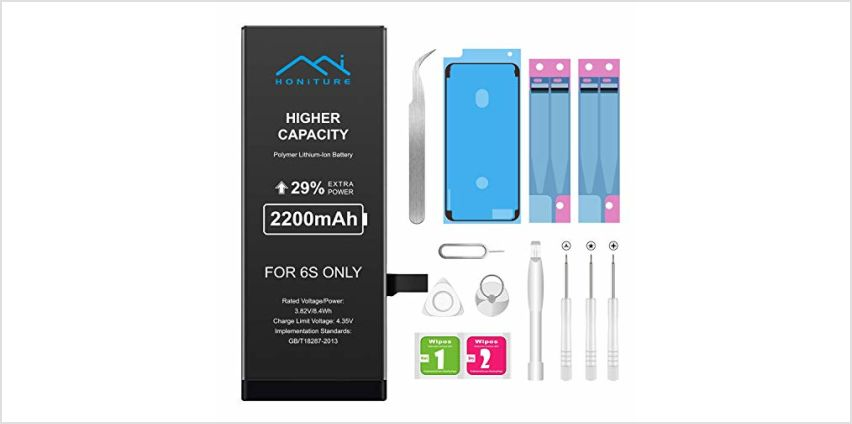 Battery Replacement for iPhone 7 2200mAh High Capacity Battery for iPhone 7 with All Repair Kits Tools, plus 2* Adhesive Strips 1* Display Adhesive and Instructions from Amazon