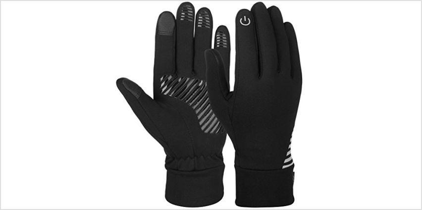 Vbiger Unisex Running Gloves Touch Screen Anti-slip Gloves from Amazon