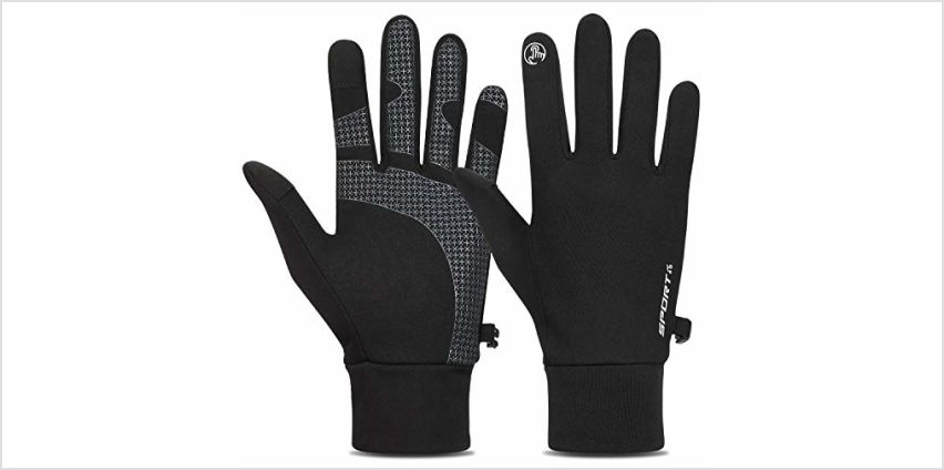 TOLEMI Winter Gloves Running Thermal Liner Gloves Warm Gloves Anti-slip Touchscreen Gloves for Men Women Sport Walking Riding Driving Cycling from Amazon