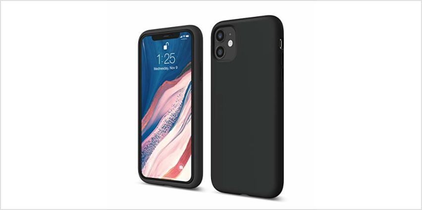 "elago Liquid Silicone Gel Rubber Shockproof Case Compatible with Apple iPhone 11 (6.1"") - Premium Silicone, Full Body Protection : 3 Layer Structure, Raised Lip for Screen & Camera from Amazon"