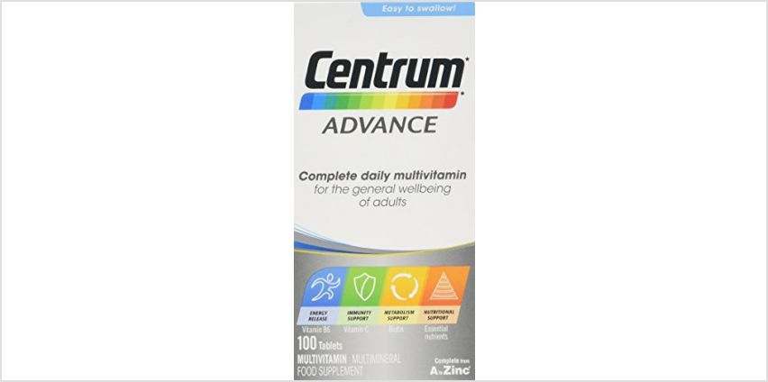 Save on Centrum Advance Multivitamin Tablets, 100-Count and more from Amazon