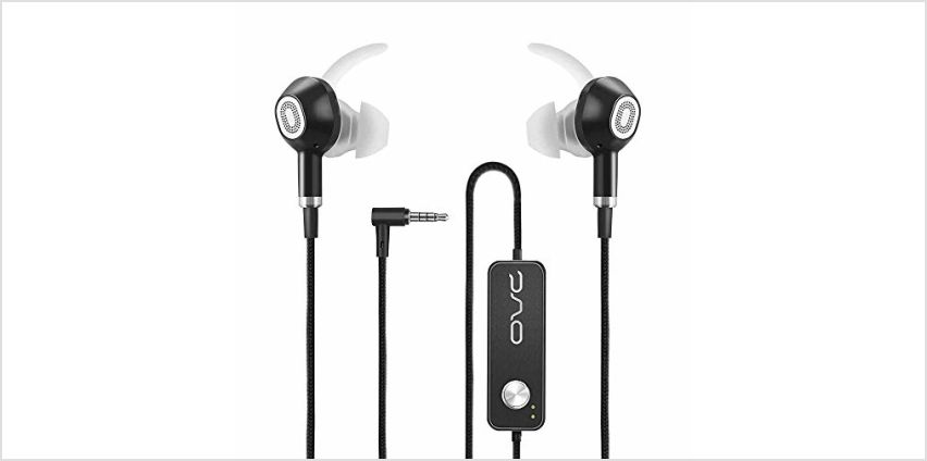 OVC Active Noise Cancelling Earbuds Earphone Wired Headphone - 60 Hours ANC Playtime, Dual Driver, Bass Enhancement, Volume Control with Microphone, 3.5mm Plug for Android from Amazon