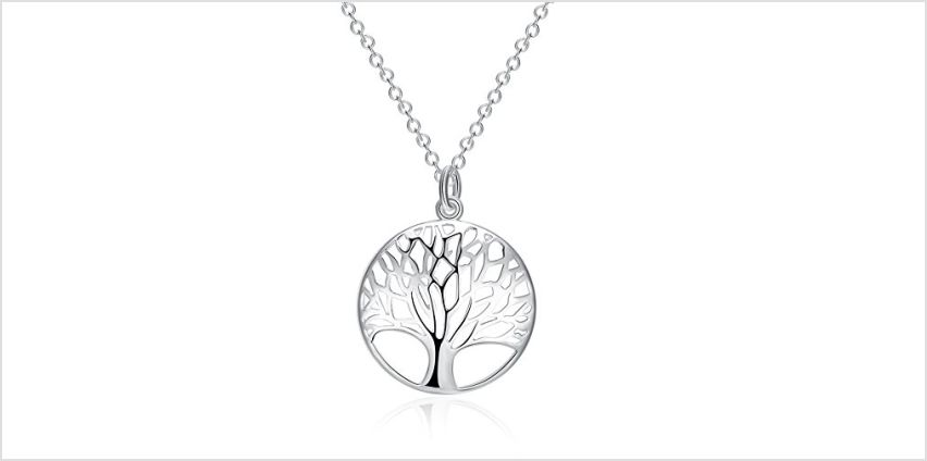 Tree of Life Necklace Hollow Out Family Tree Pendant Charm B from Amazon
