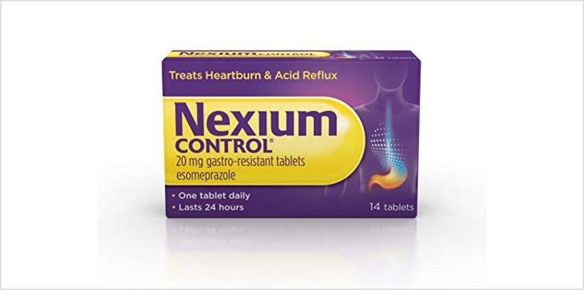 Save on Nexium Control (14 Count) Heartburn and Acid Reflux Relief Tablets, 20mg Gastro-Resistant Esomeprazole Tablets and more from Amazon