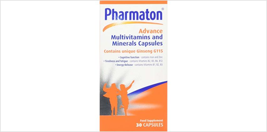 Save on Pharmaton Advance Multivitamin and Mineral Capsules, 30 Capsules and more from Amazon